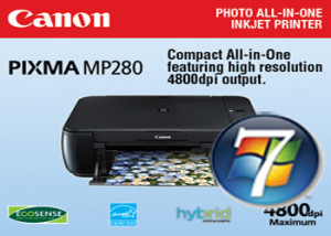 Canon MP280 Driver Windows 7 32-64 bit Gratis