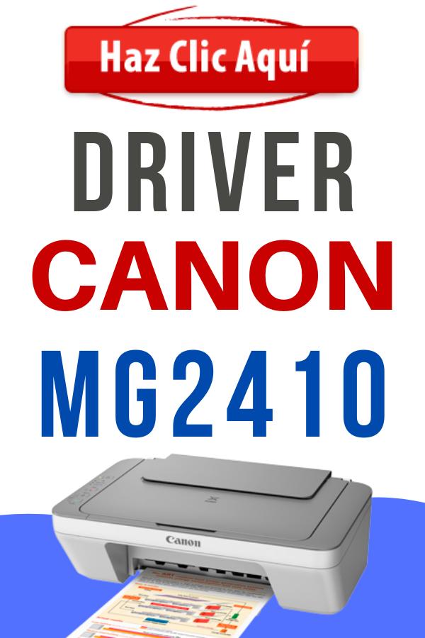 Controlador de Impresora Canon Pixma Mg2410