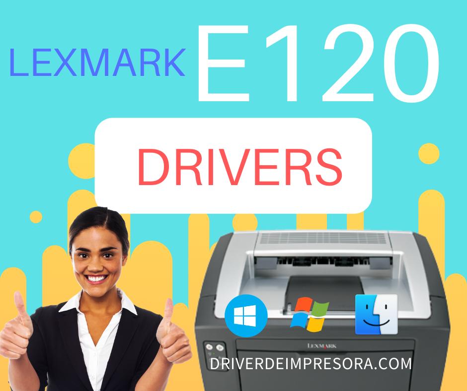 Descargar programa de instalacion de Driver De Impresora Lexmark E120
