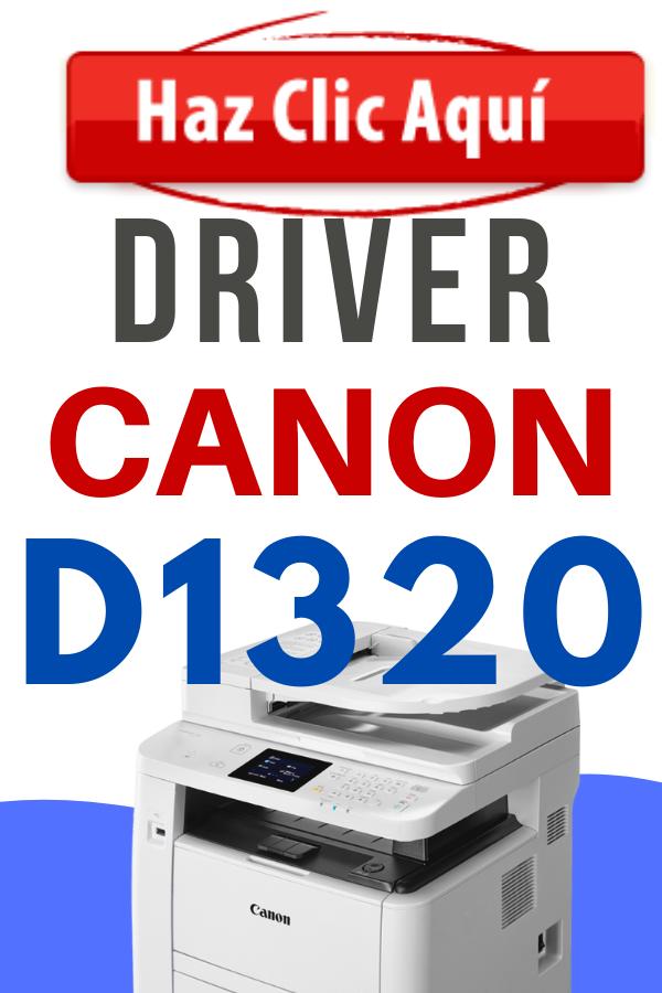 Descargar Driver para Impresora Canon D1320 Imageclass