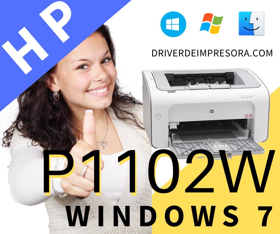Instalador De  Driver Hp Laserjet P1102w Para Sistemas Windows  Windows 7