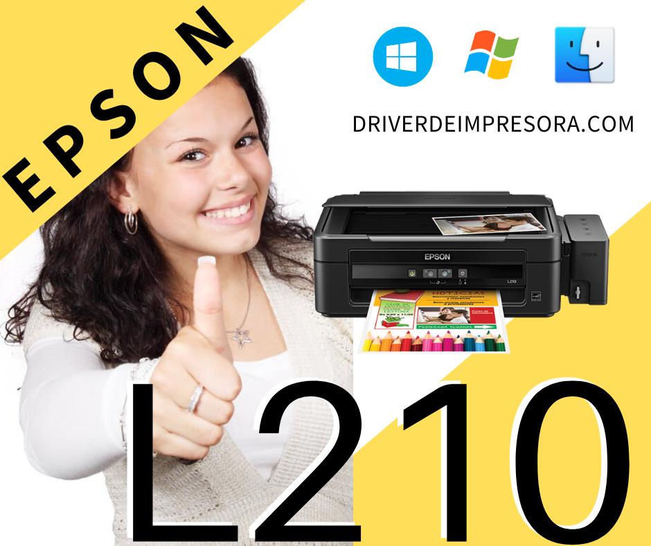 Programa de instalacion del Driver Epson L210 Windows 10