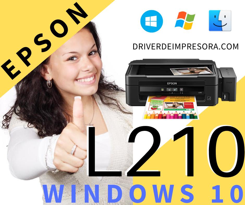 Programa para instalar la impresora Epson L210 en una pc con Windows 10