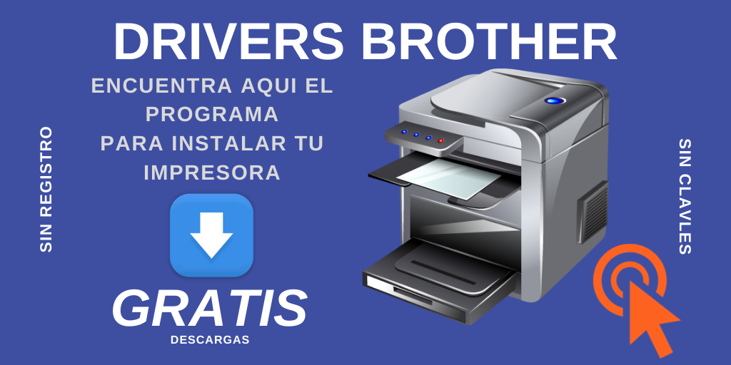 Descargar brother drivers para instalar impresores.