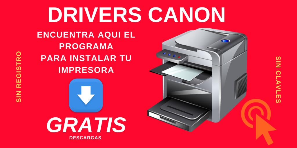 descargar instaladores canon drivers gratis