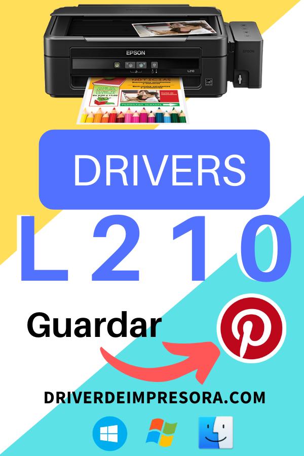 Instalador de drivers para impresora Epson L210